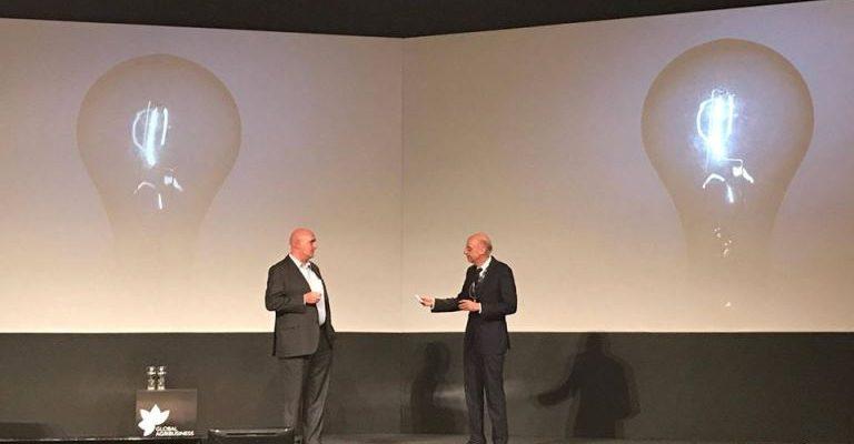 Hugh Grant, Chairman and CEO da Monsanto, e Plinio Nastari, Presidente da Datagro, durante painel no GAF Talks